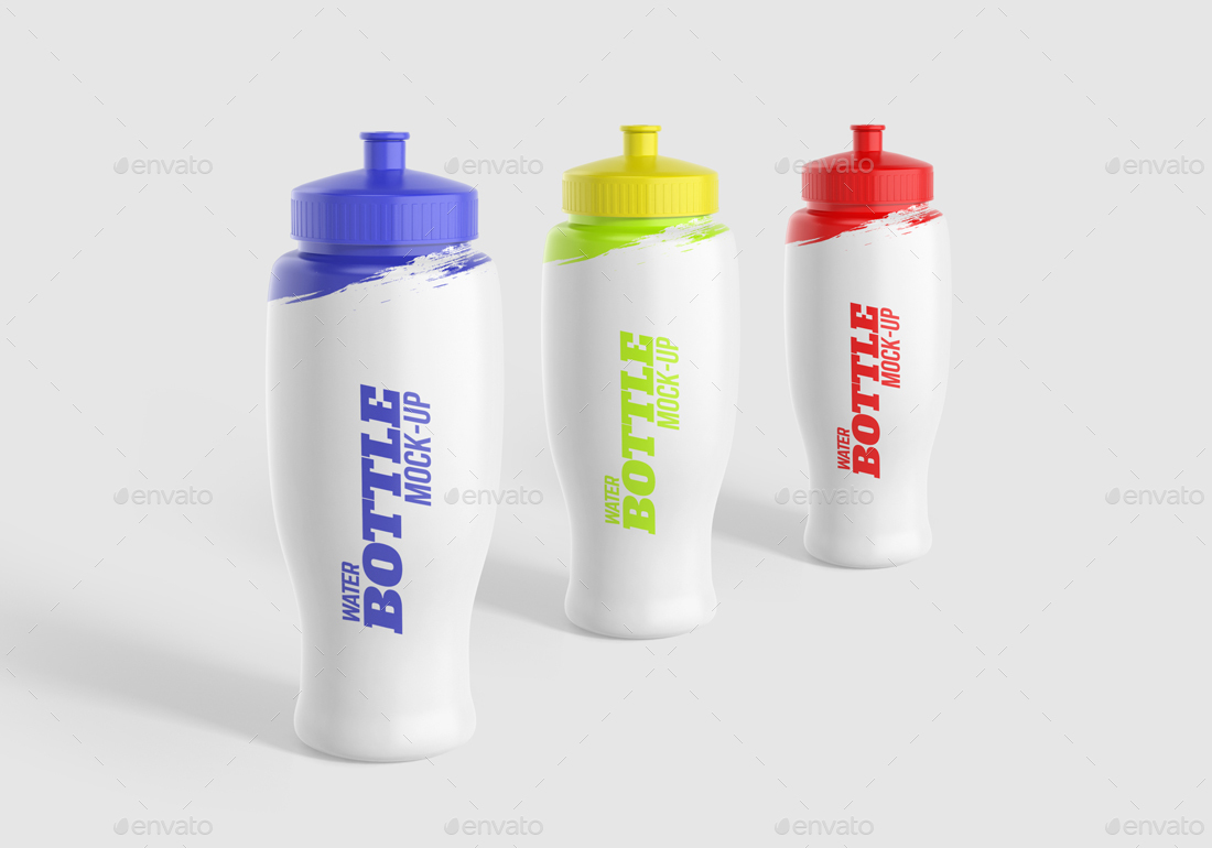 Water Bottle Mock-Up Vol. 2 by AlkDesign | GraphicRiver