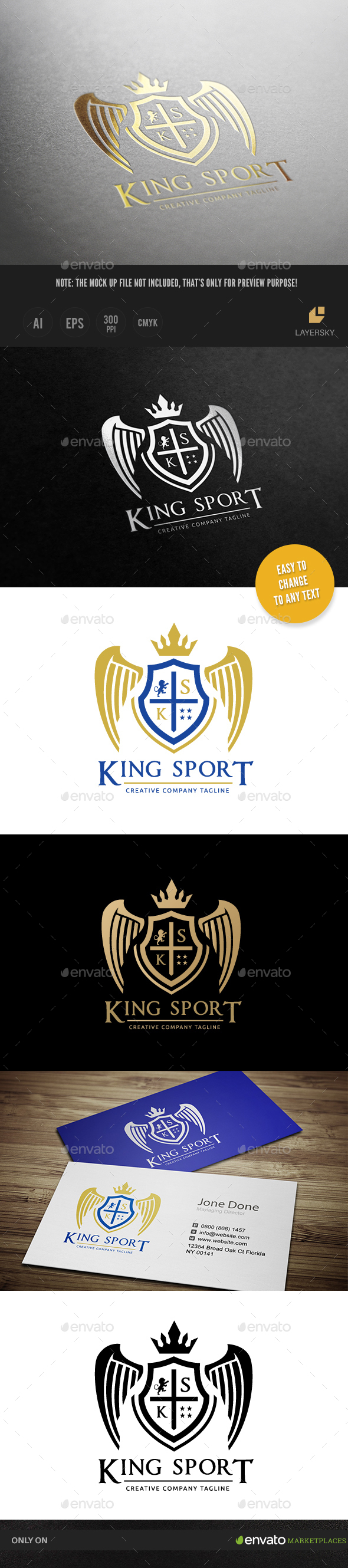 King Sport Logo - Crests Logo Templates