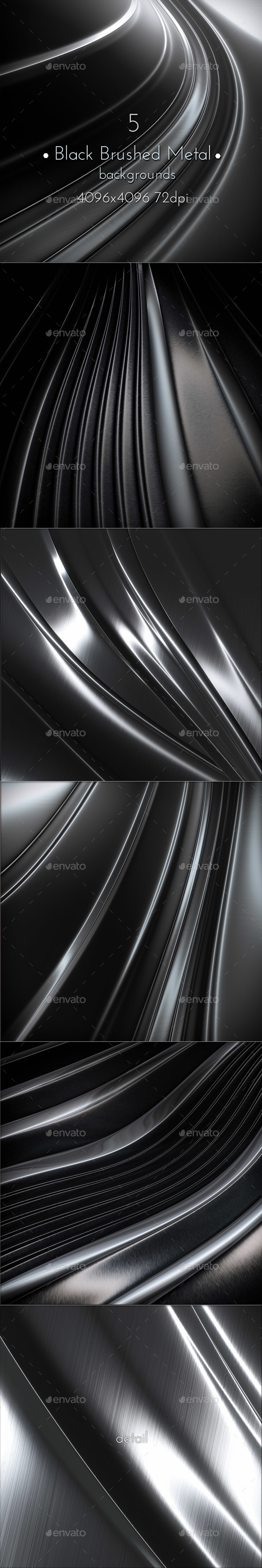 Black Brushed Metal Surface - Abstract Backgrounds