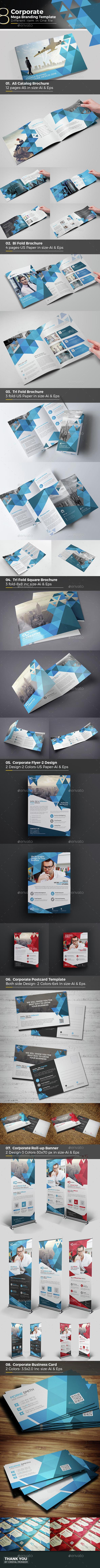 Corporate Mega Branding Bundle Template - Corporate Brochures
