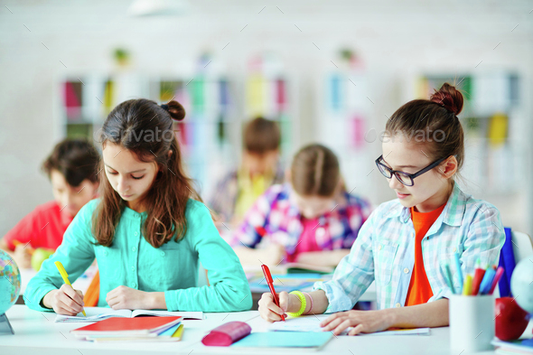 Learning at school - Stock Photo - Images