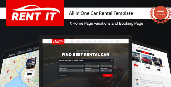 Rentit - Car / Bike / Vehicle Rental WordPress Theme