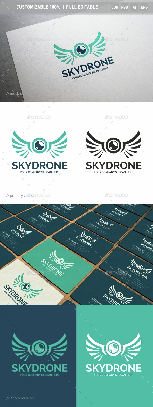 Sky Drone Logo Template - Objects Logo Templates