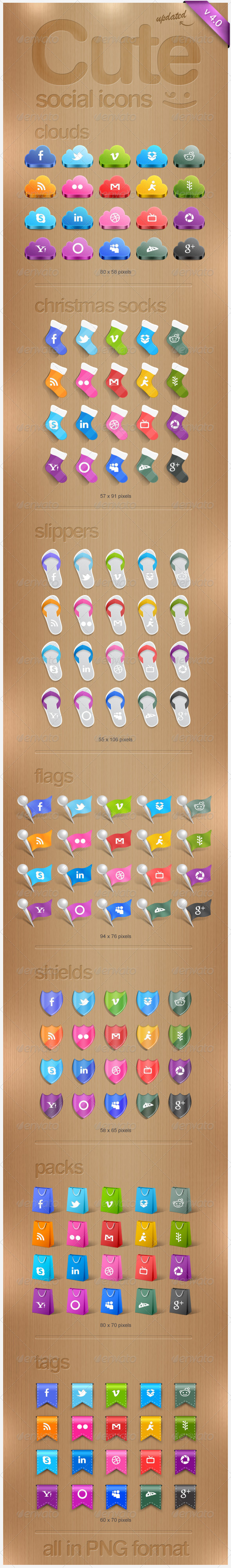Cute Social Icons - Web Icons