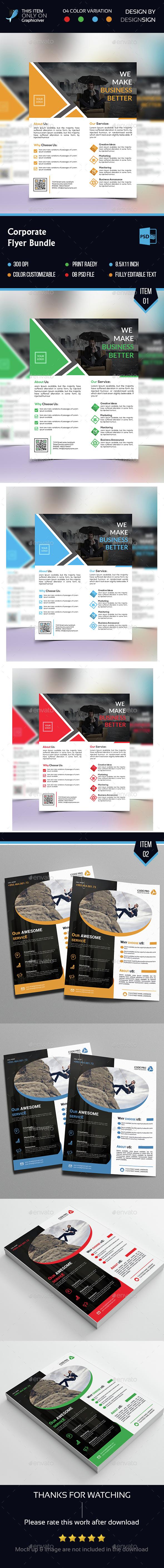 Creative Business flyer Bundle - Flyers Print Templates