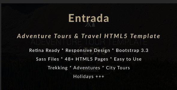 Adventure Tours and Travel HTML Template – Entrada