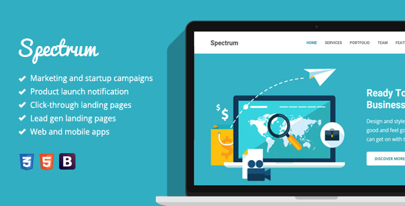 Spectrum – Responsive Landing Page Template