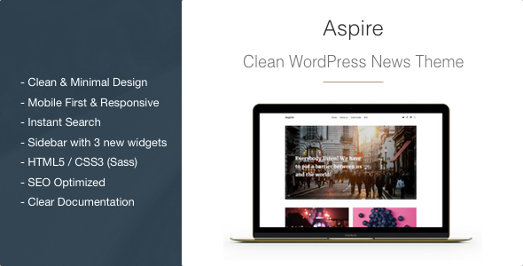 Aspire – News & Magazine Clean WordPress Theme