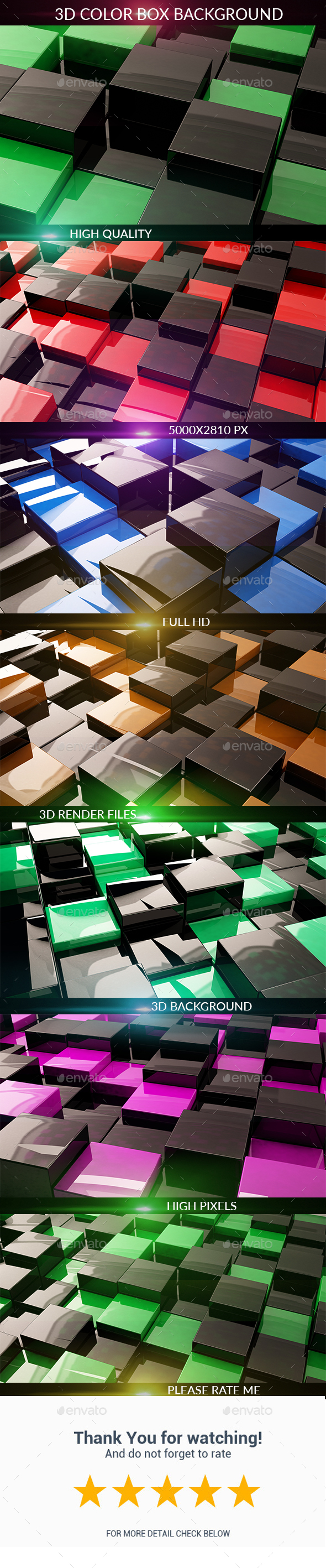 3D Box - 3D Backgrounds