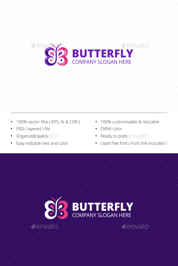 Butterfly - Animals Logo Templates