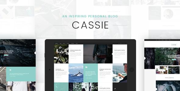 Cassie – An Inspiring Personal Blog PSD Template