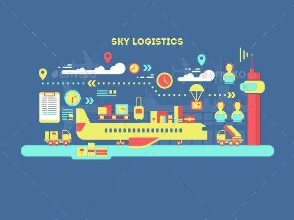 Sky Logistics Design Flat - Miscellaneous Conceptual