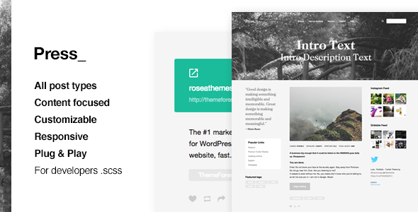 Press | Premium Blogging Theme