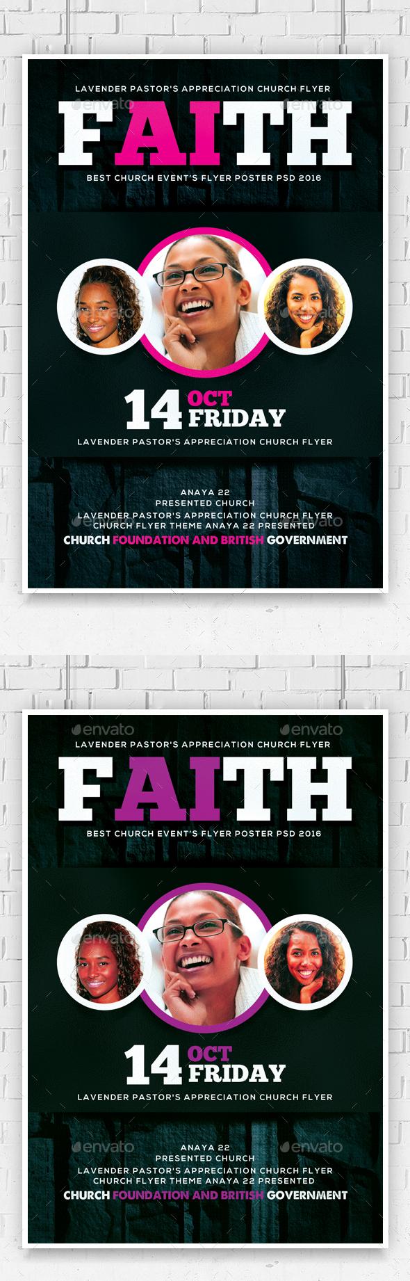 Women of Faith Church Flyer Template  - Church Flyers