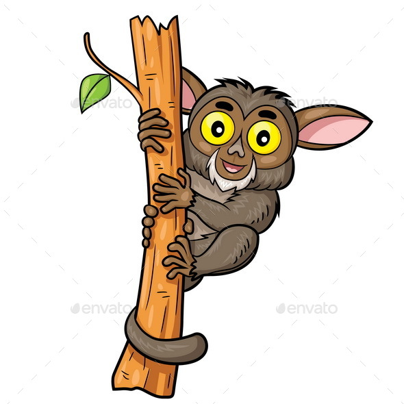 Tarsius Cartoon - Animals Characters