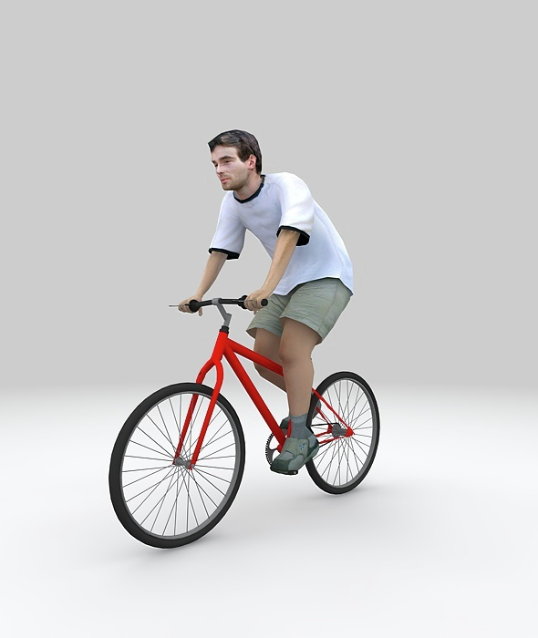 LOW POLY  BIKER+MOTION  - 3DOcean Item for Sale