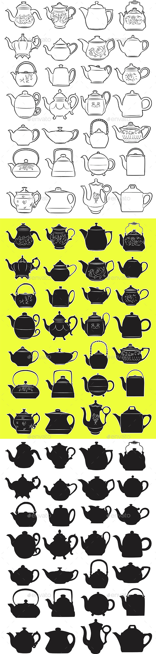 Teapot Set - Man-made Objects Objects