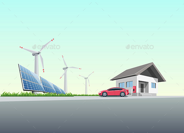 Electric Car Charging - Technology Conceptual