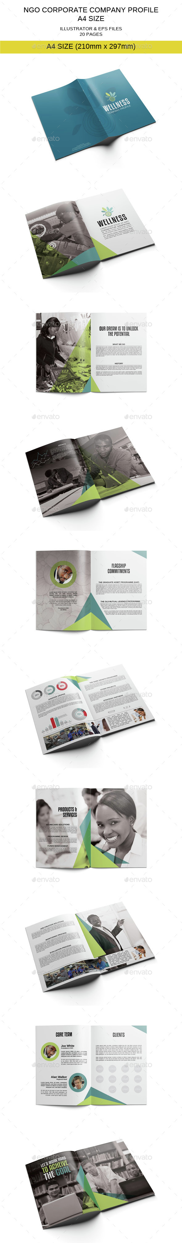 NGO Corporate Company Profile Template - Corporate Brochures