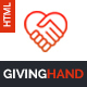 Giving Hand - Responsive HTML Template for Charity & Fund Raising - ThemeForest Item for Sale