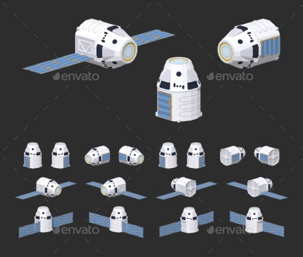 Modern Reusable Spaceship - Man-made Objects Objects