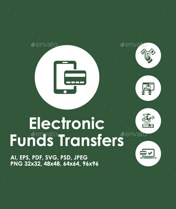 Electronic Funds Transfers icons - Business Icons