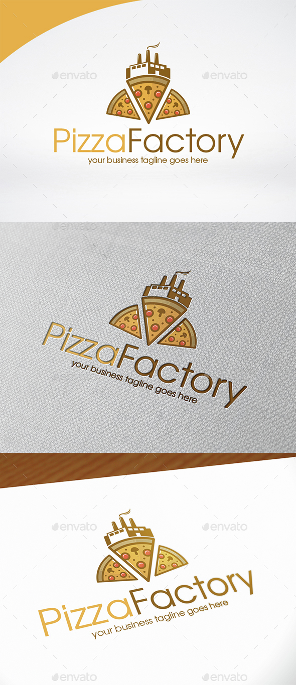 Pizza Factory Logo Template - Food Logo Templates