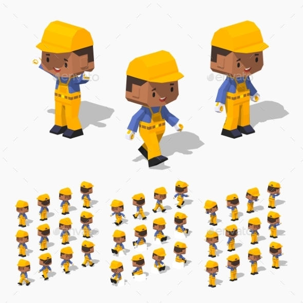 Low Poly Worker - People Characters