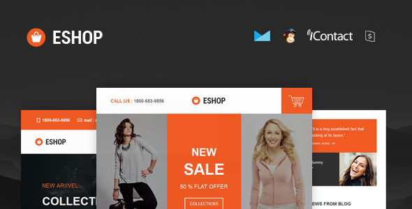 ESHOP - Responsive E-mail Template + Online Access  - Email Templates Marketing