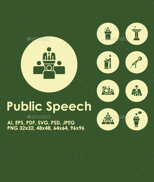 Public Speech simple icons - Media Icons