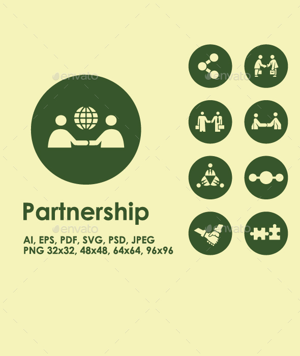Partnership simple icons - Business Icons