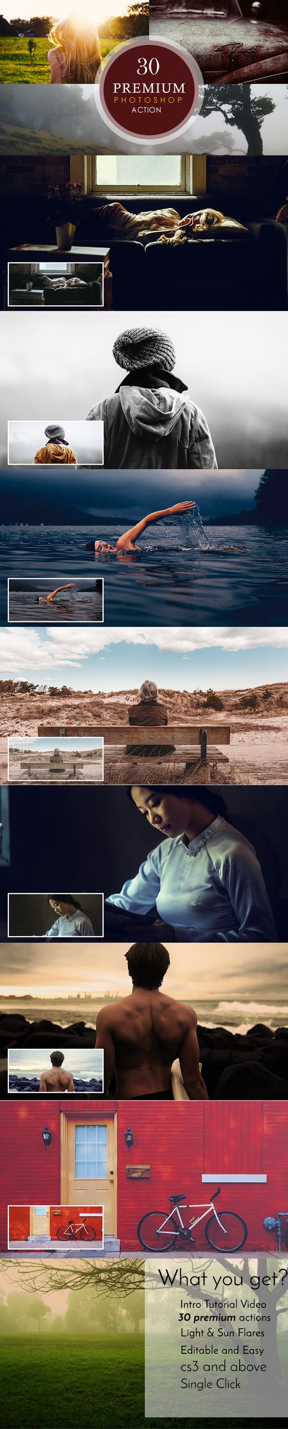 30 Premium Photoshop Actions - Photo Effects Actions