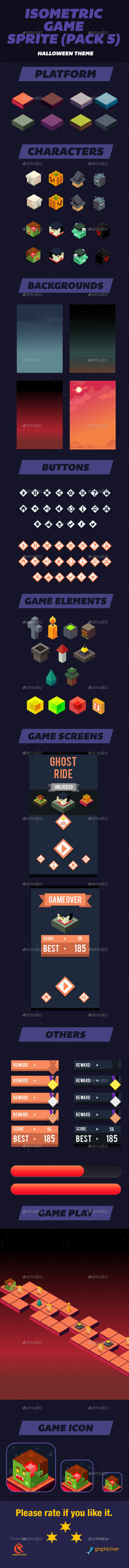 Isometric Game Assets Halloween - User Interfaces Game Assets