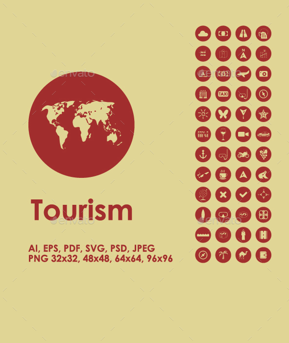 Tourism simple icons - Seasonal Icons