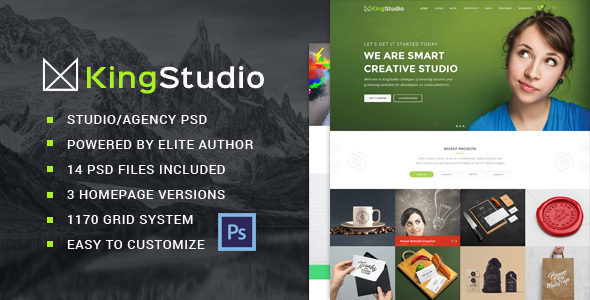 King Studio – Creative PSD Template