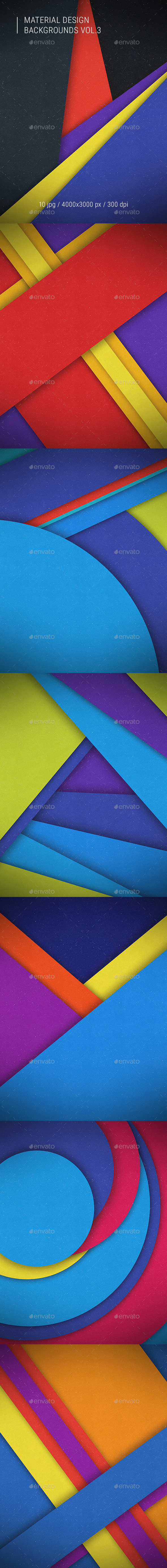 Material Design Backgrounds Vol.3 - Abstract Backgrounds