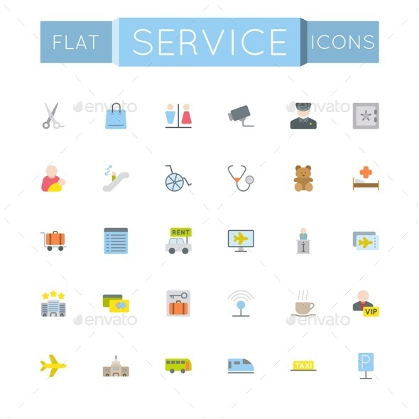 Vector Flat Service Icons - Miscellaneous Icons