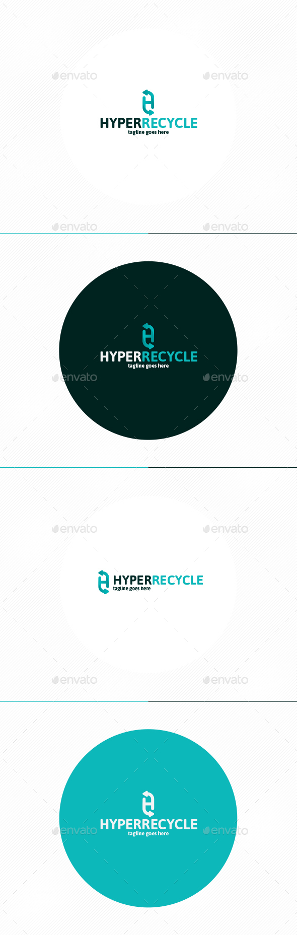 Hyper Recycle Logo • Letter H - Letters Logo Templates