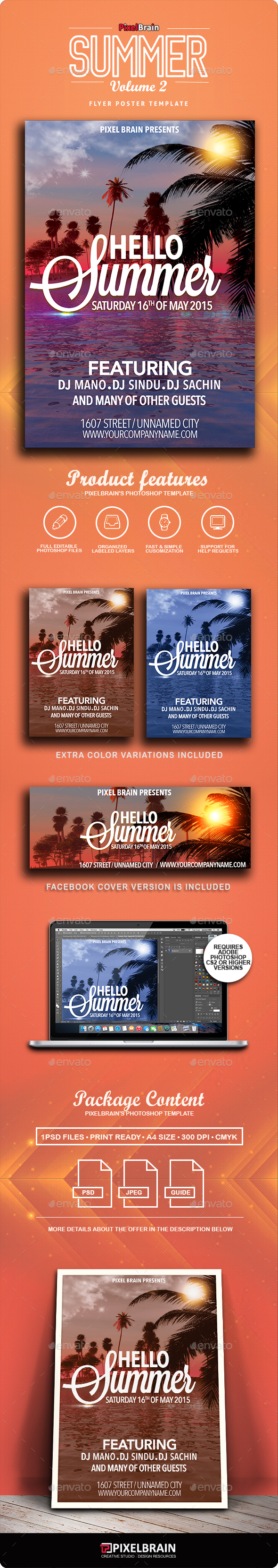 Summer Flyer/Poster Vol. 2 - Clubs & Parties Events