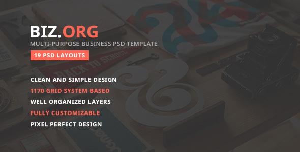 Bizorg — Multipurpose Corporate Business PSD Template - Business Corporate