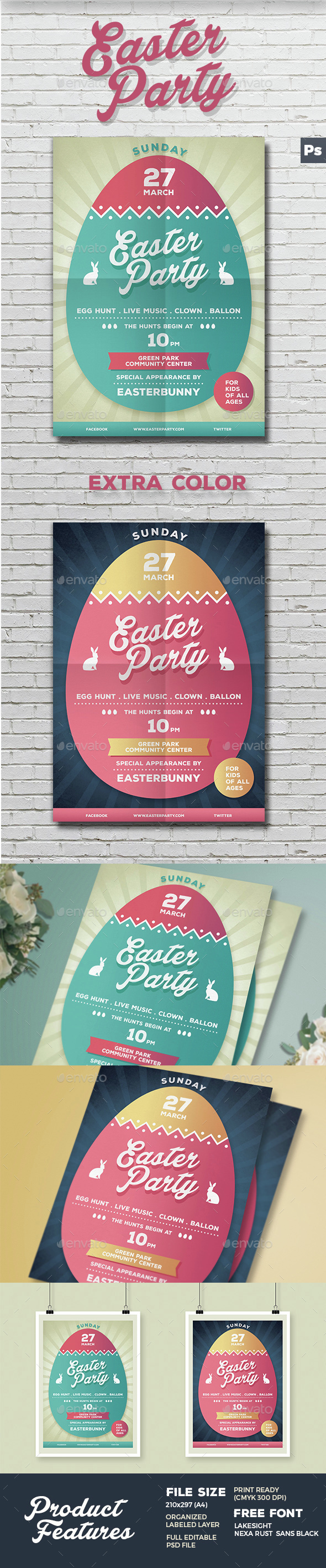 Easter Party Flyer / Poster - Events Flyers