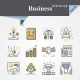 Business Flat and Line Icons - GraphicRiver Item for Sale
