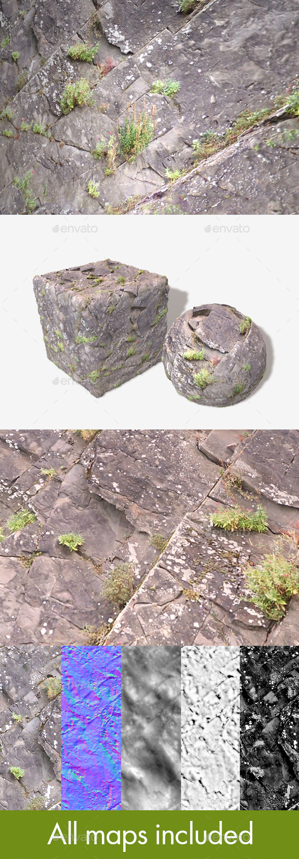 Angled Cliff Face 01 Seamless Texture - 3DOcean Item for Sale