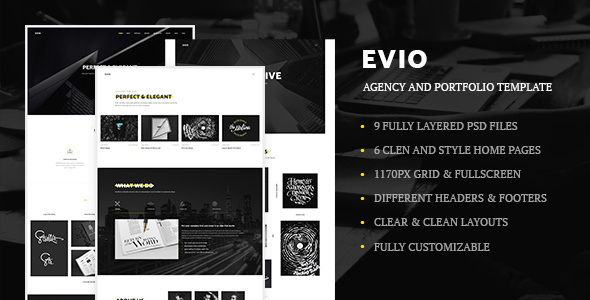 Evio – Agency and Portfolio Template