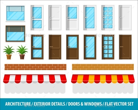 Architectural Details for House Exterior - Buildings Objects