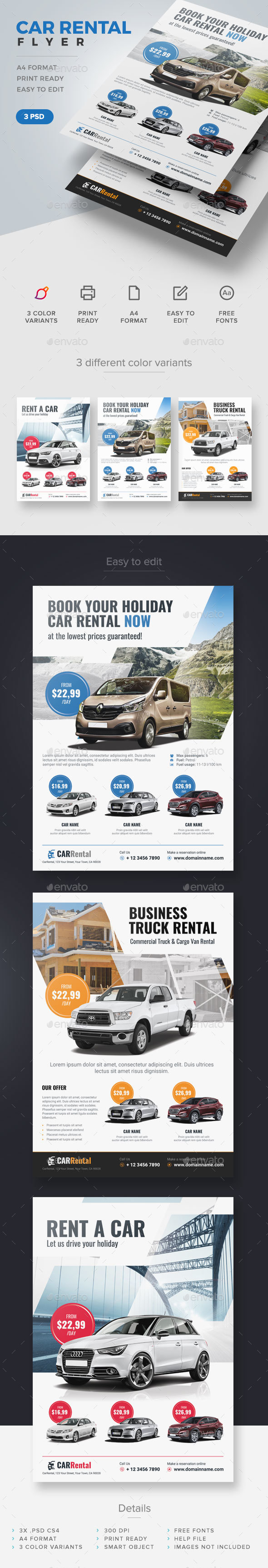 Car Rental Flyer - Corporate Flyers