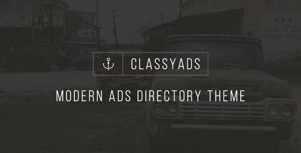 ClassyAds – Modern Ads Directory WordPress Theme