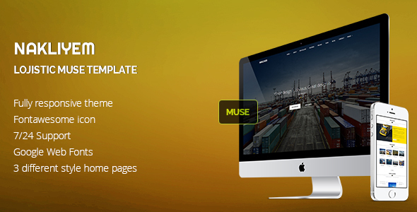 Nakliyem Logistic Muse Template