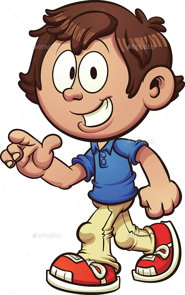 Walking Boy - People Characters