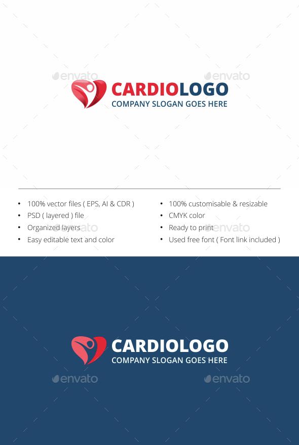 Human Heart - Symbols Logo Templates